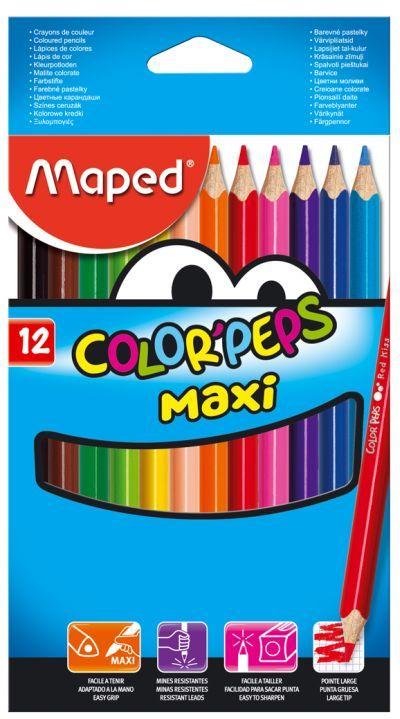 Creioane colorate,12b/set,Maped Maxi