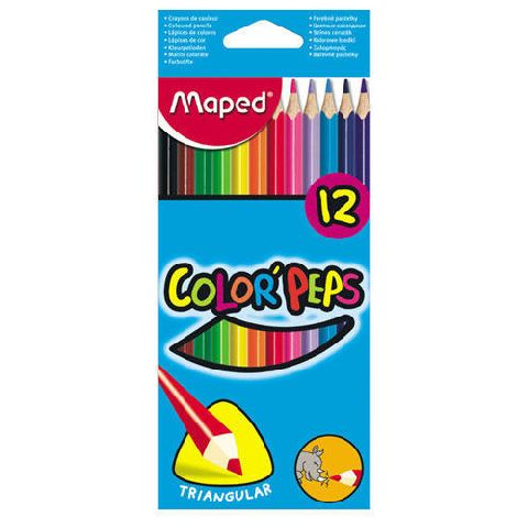 Creioane colorate,12b/set,Maped