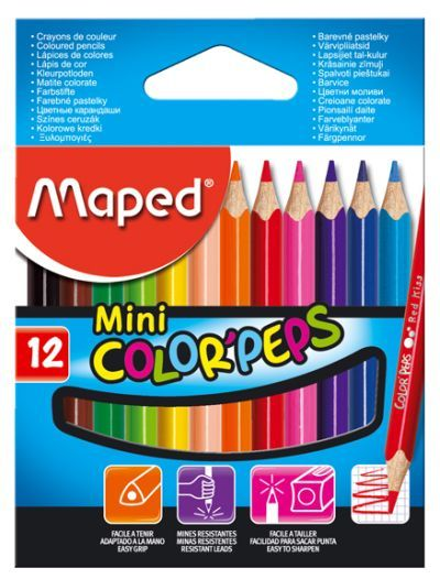 Creioane colorate,12b/set,Maped,Mini