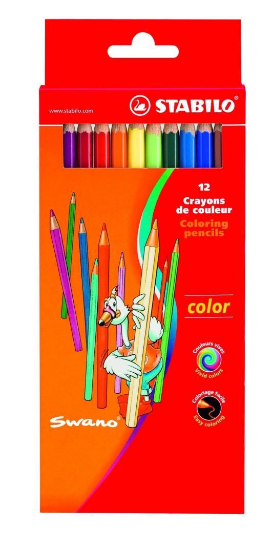 Creioane colorate,12b/set,StabiloSwano