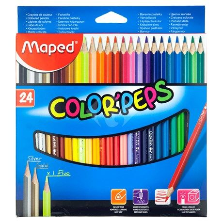 Creioane colorate,24b/set,Maped