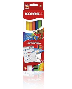 Creioane colorate,6b/set,triung,Kores
