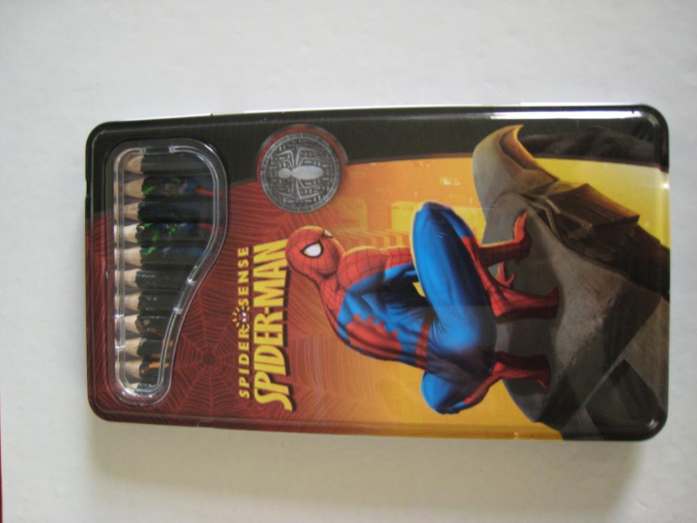 Creioane colorate 12b/cutie m.,Spiderman