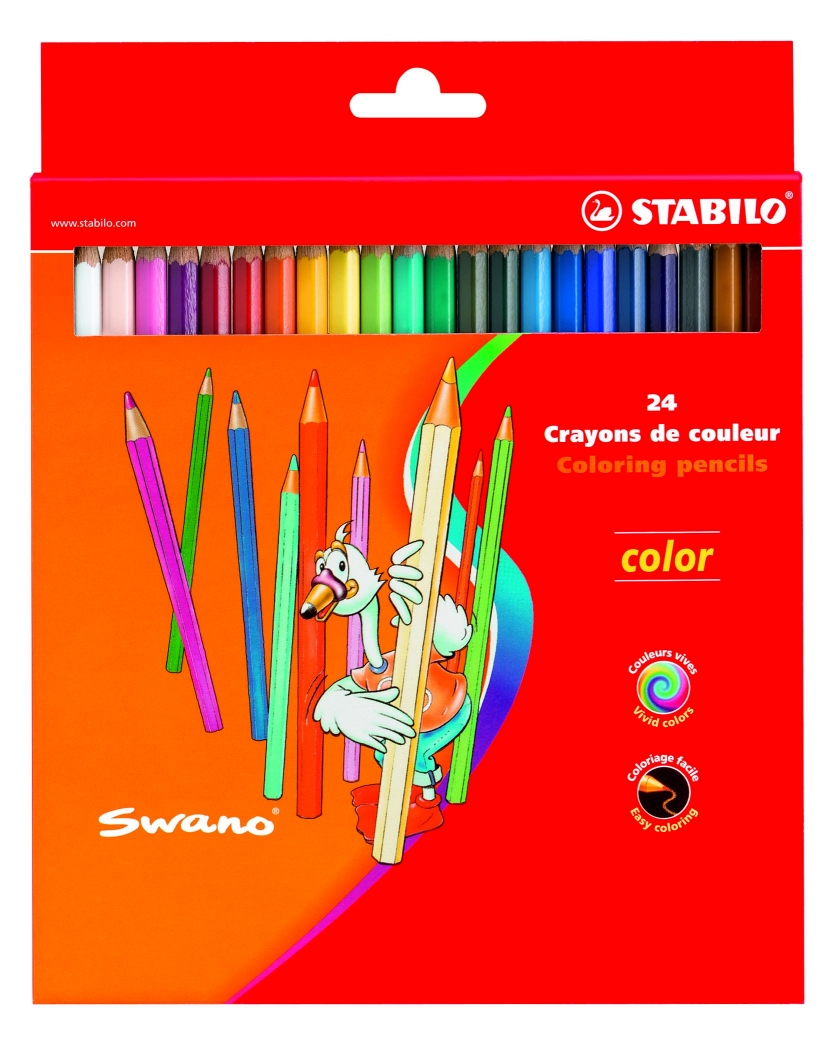 Creioane color.Stabilo Color,24buc/set