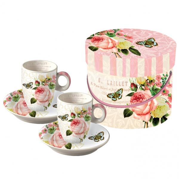 Cutie cesti espresso Jardin Rose
