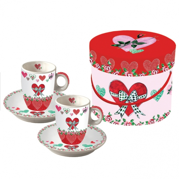 Cutie cesti espresso Love Hearts