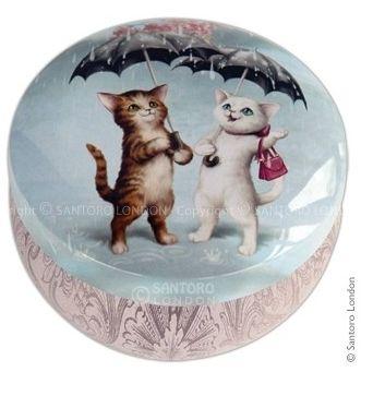 Cutiuta metal depozitare Raining Cats