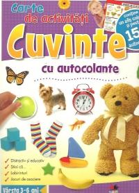 CUVINTE. CARTE DE ACTIVITATI CU AUTOCOLANTE
