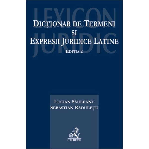 DICTIONAR DE TERMENI SI EXPRESII JURIDICE LATINE EDITIA  2
