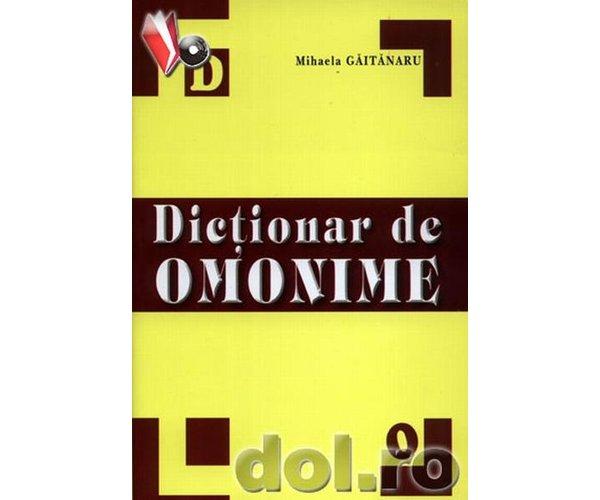 DICTIONAR OMONIME