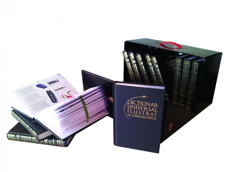 DICTIONAR UNIVERSAL ILUSTRAT AL LIMBII ROMANE SET 12 VOLUME + CUTIE CADOU