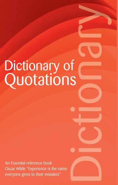 Dictionary Of Quotations, OHenry