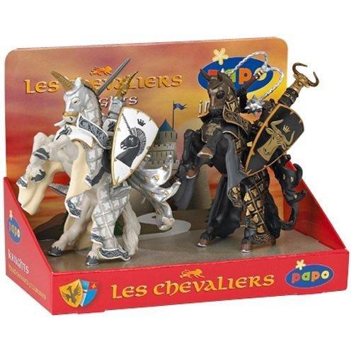Display cavaleri si unicorni, 4 pcs.