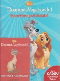 Doamna si Vagabondul - Povestea prieteniei + Carte CADOU cu jocuri logice si pagini de colorat