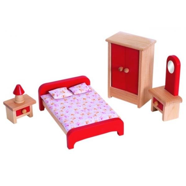 Dormitor pt. casuta de papusi, 5 pcs.