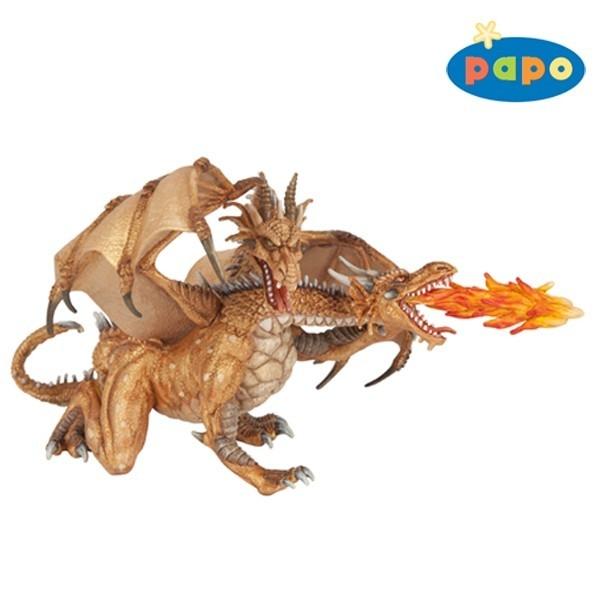 Dragon auriu cu 2 capete
