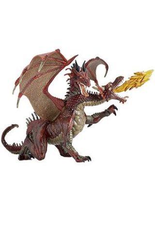 Dragon rosu cu 2 capete