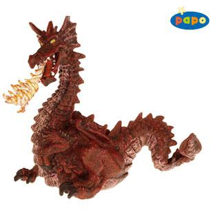 Dragonul rosu cu flacari