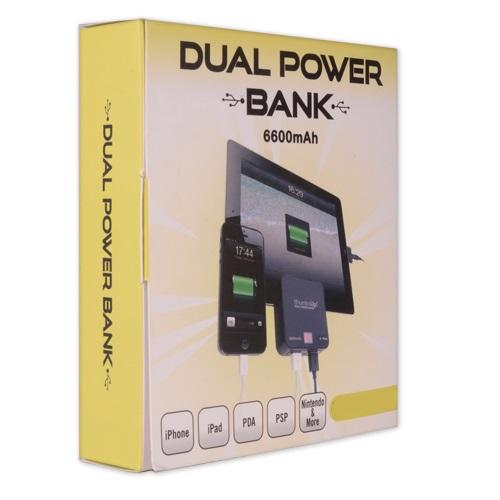 Dual Power Bank - Black