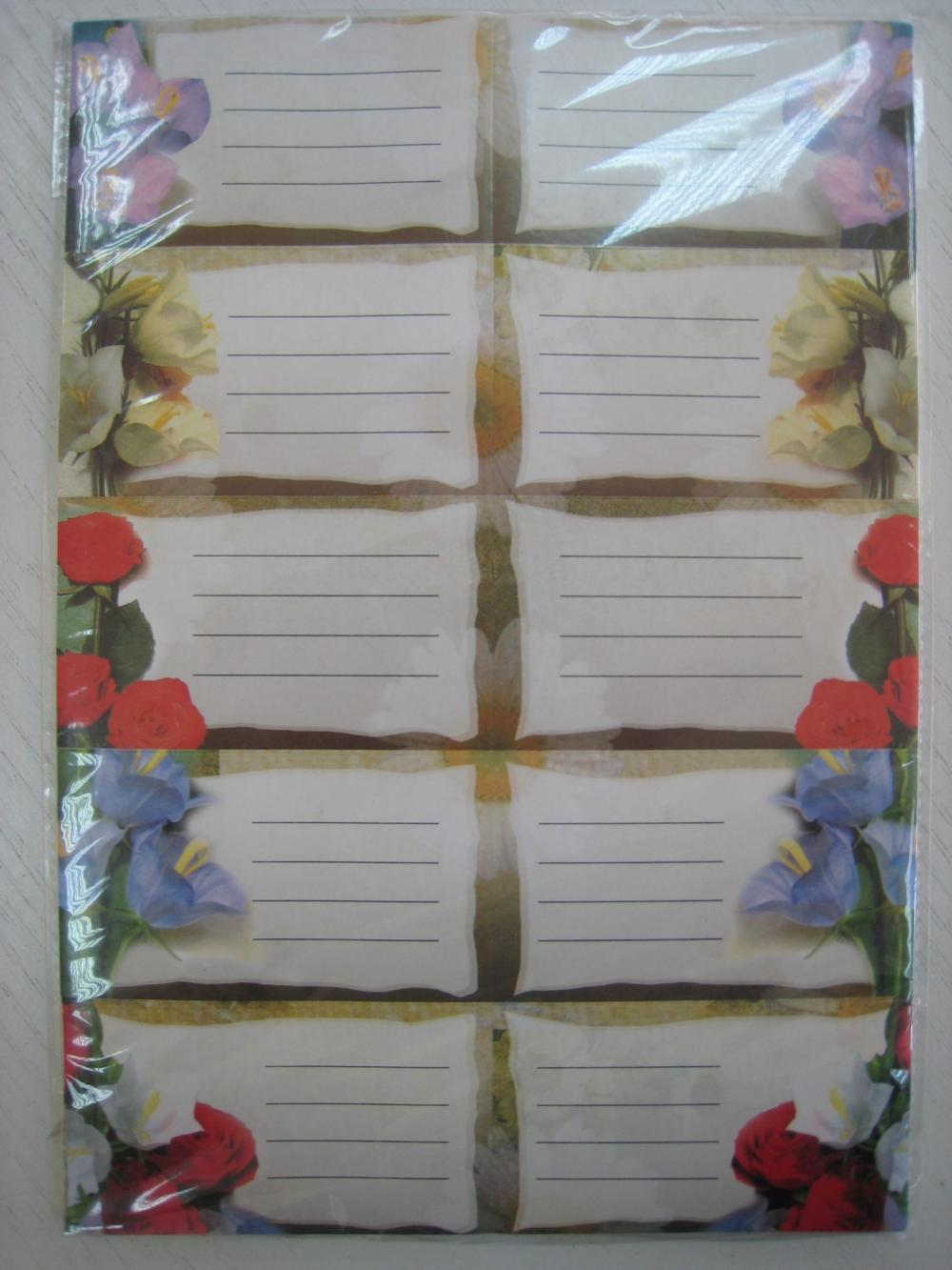 Etichete 10buc/coala,flori