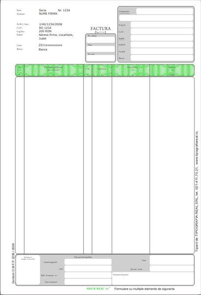 Factura cu TVA A4,50s,3 ex/set