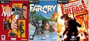 FAR CRY & XIII & RAINBOW SIX VEGAS - PC