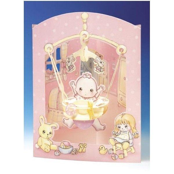 Felicitare 3D BABY GIRL