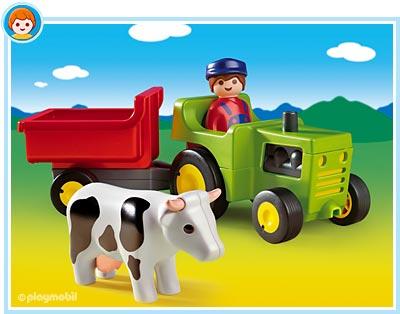 Fermier cu tractor