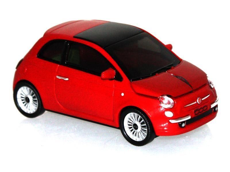 Mouse Fiat 500 cu fir,rosu