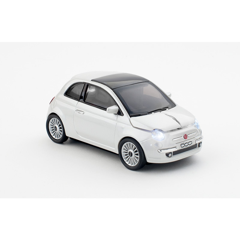 Mouse wireless Fiat 500,alb