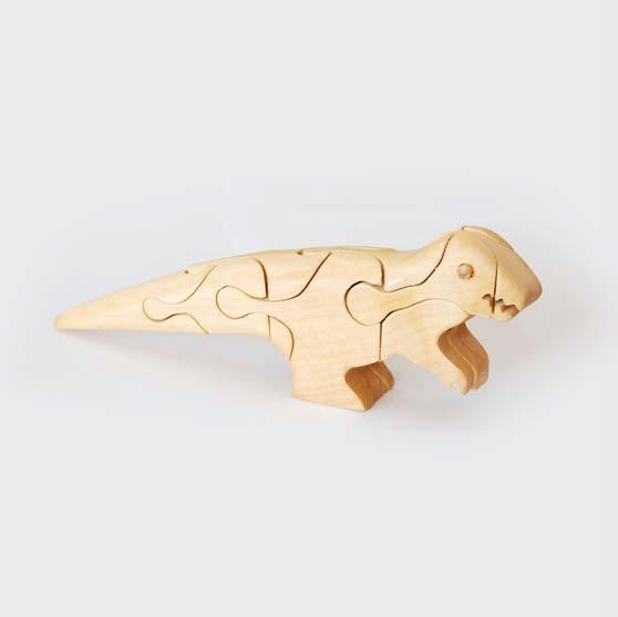 zzFigurina 3D Tyrannosaurus 1 din lemn