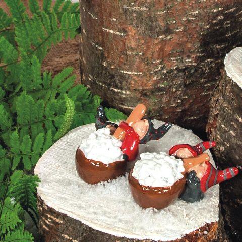 Figurina de ceramica orez cu lapte 6cm