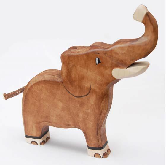 zzFigurina Elefant din lemn