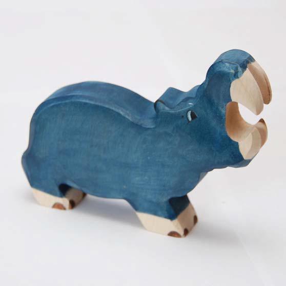 zzFigurina Hipopotam din lemn