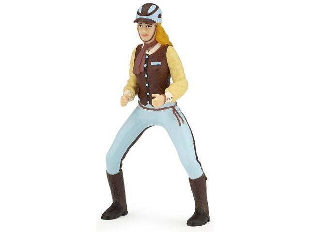 Figurina Papo,calareata echitatie,bleu
