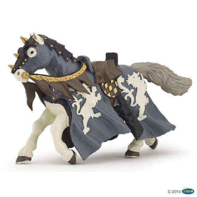 Figurina Papo,calul calaret cu ax,negru