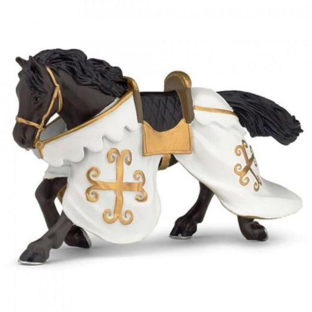Figurina Papo,calul cavalerului in zale