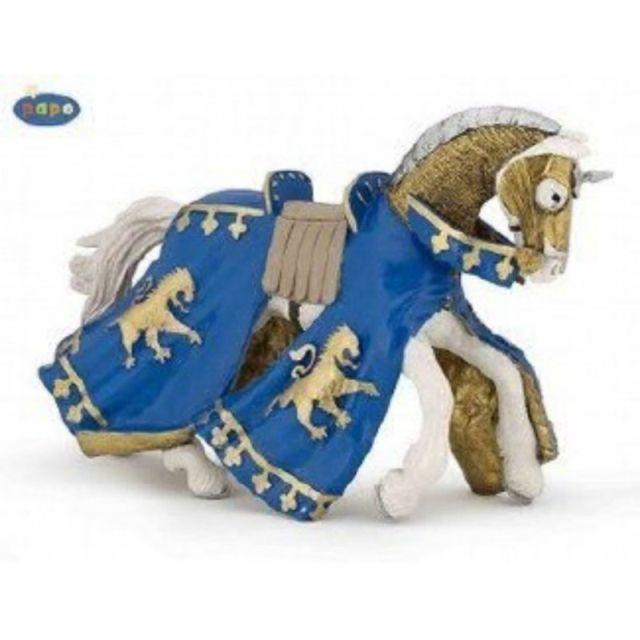 Figurina Papo,calul printului Richard,bleu