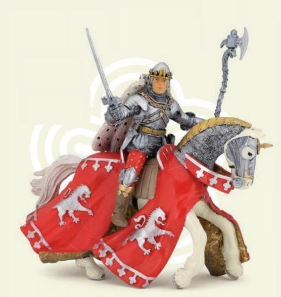 Figurina Papo,calul printului Richard,rosu