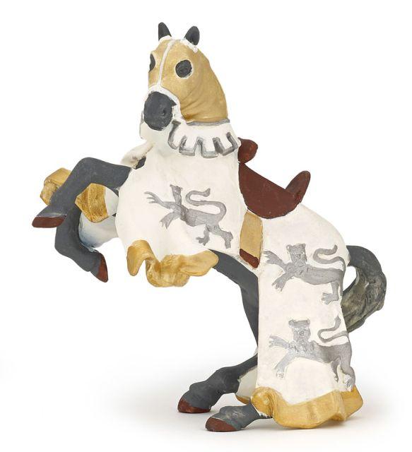 Figurina Papo,calul regelui Richard,alb