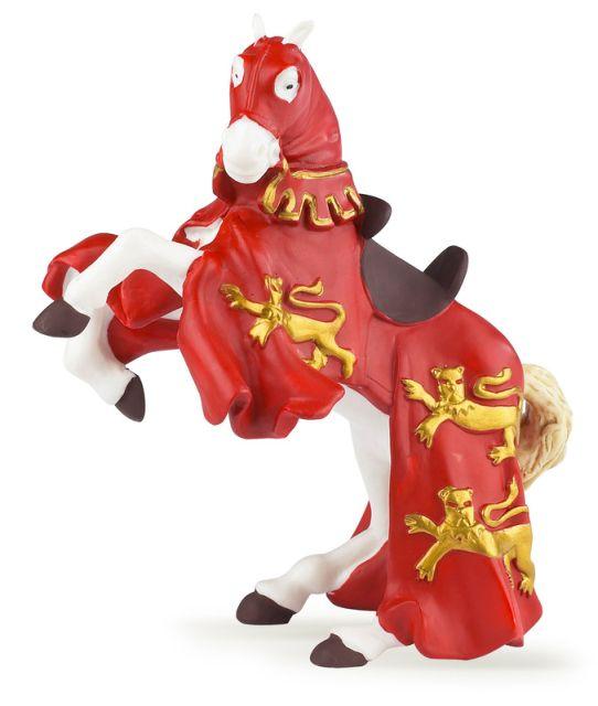 Figurina Papo,calul regelui Richard,rosu