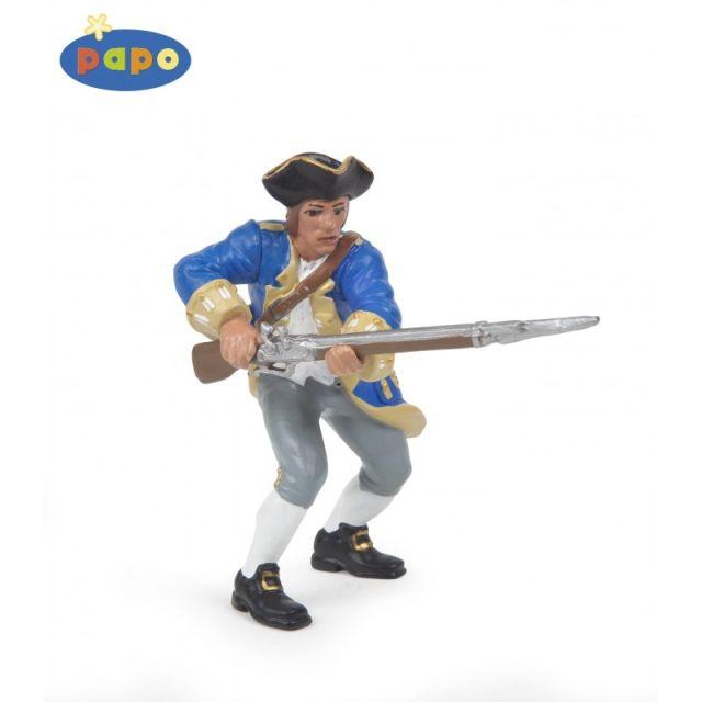 Figurina Papo,capitan regal,albastru