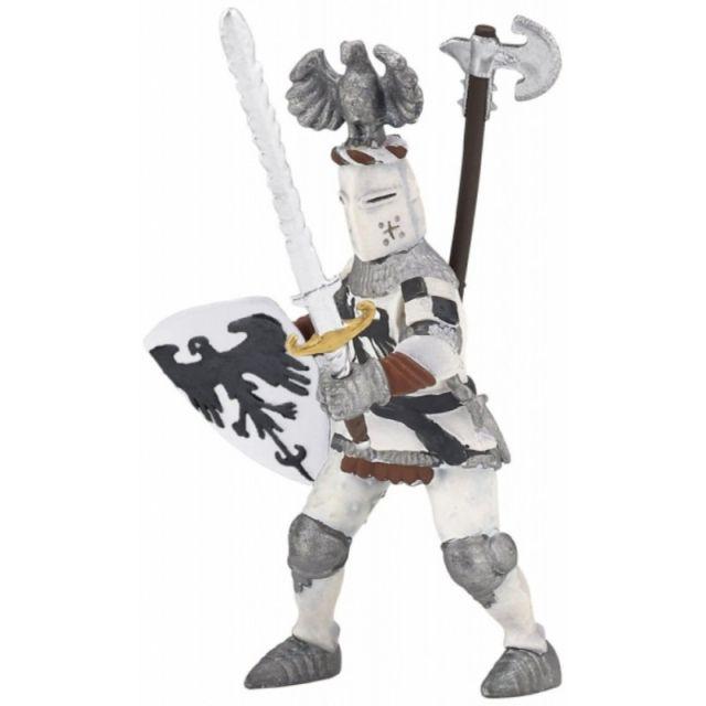 Figurina Papo,cavaler cu pene,alb