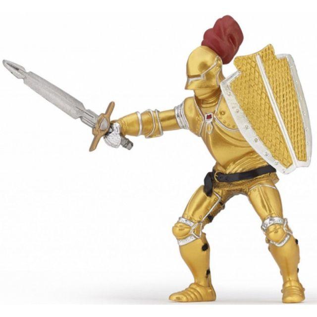 Figurina Papo,cavaler in armura aurie