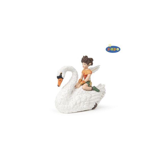 Figurina Papo,copil pe lebada