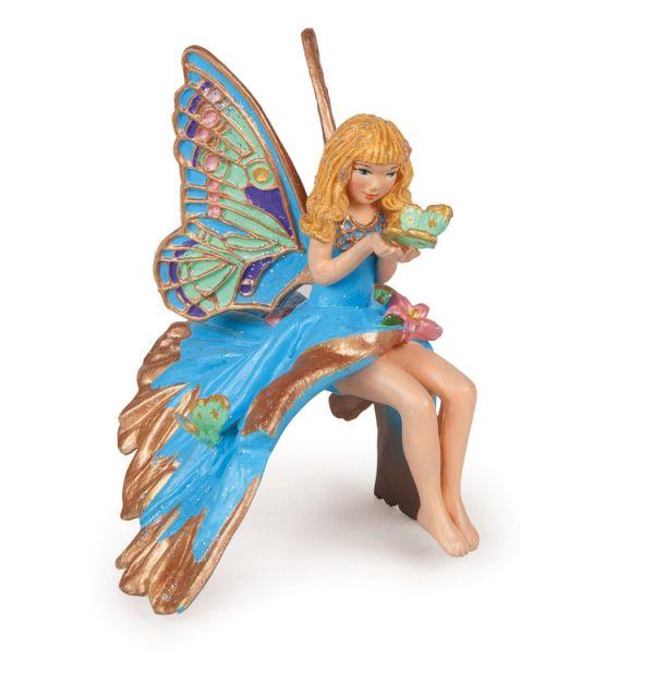 Figurina Papo,copil spiridus,albastru