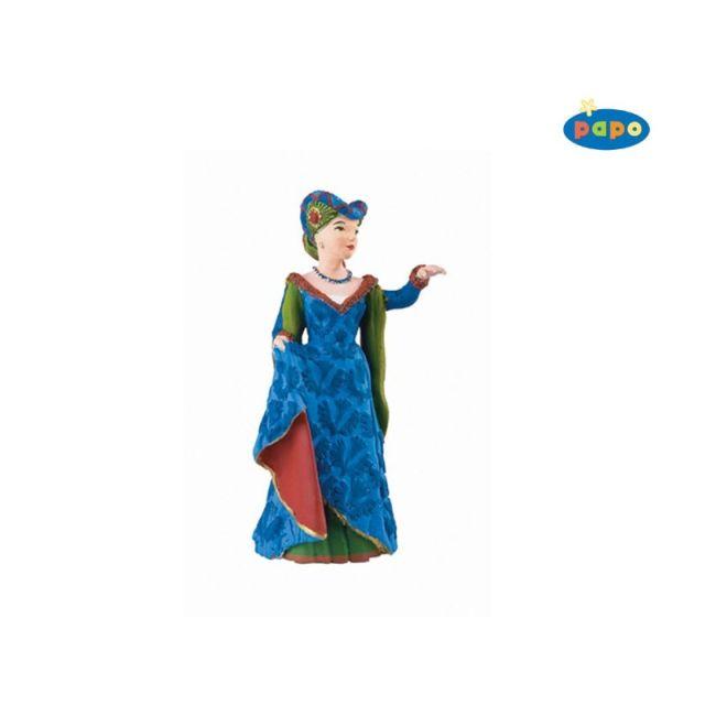 Figurina Papo,domnita medievala,bleu