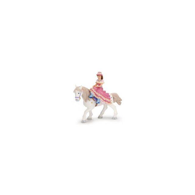 Figurina Papo,femeie jocheu,cu palarie