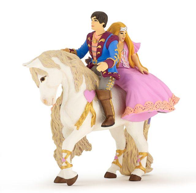 Figurina Papo,print si printesa pe cal