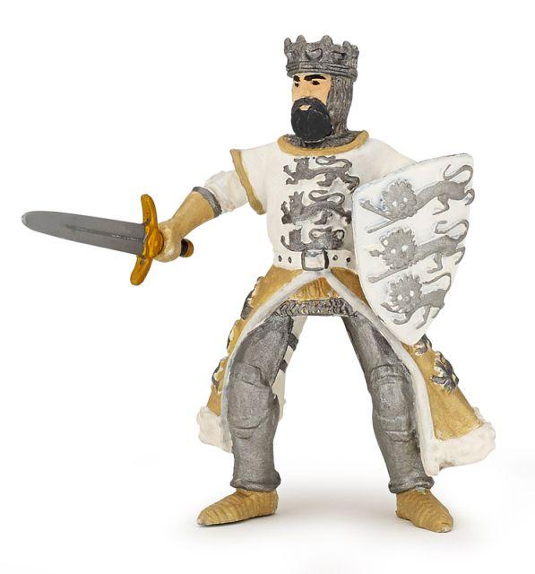 Figurina Papo,regele Richard,alb